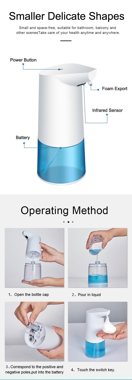 Touchless Bathroom Dispenser Smart Sensor Liquid Soap Dispenser for Kitchen Hand Free Automatic Soap Dispenser 2
