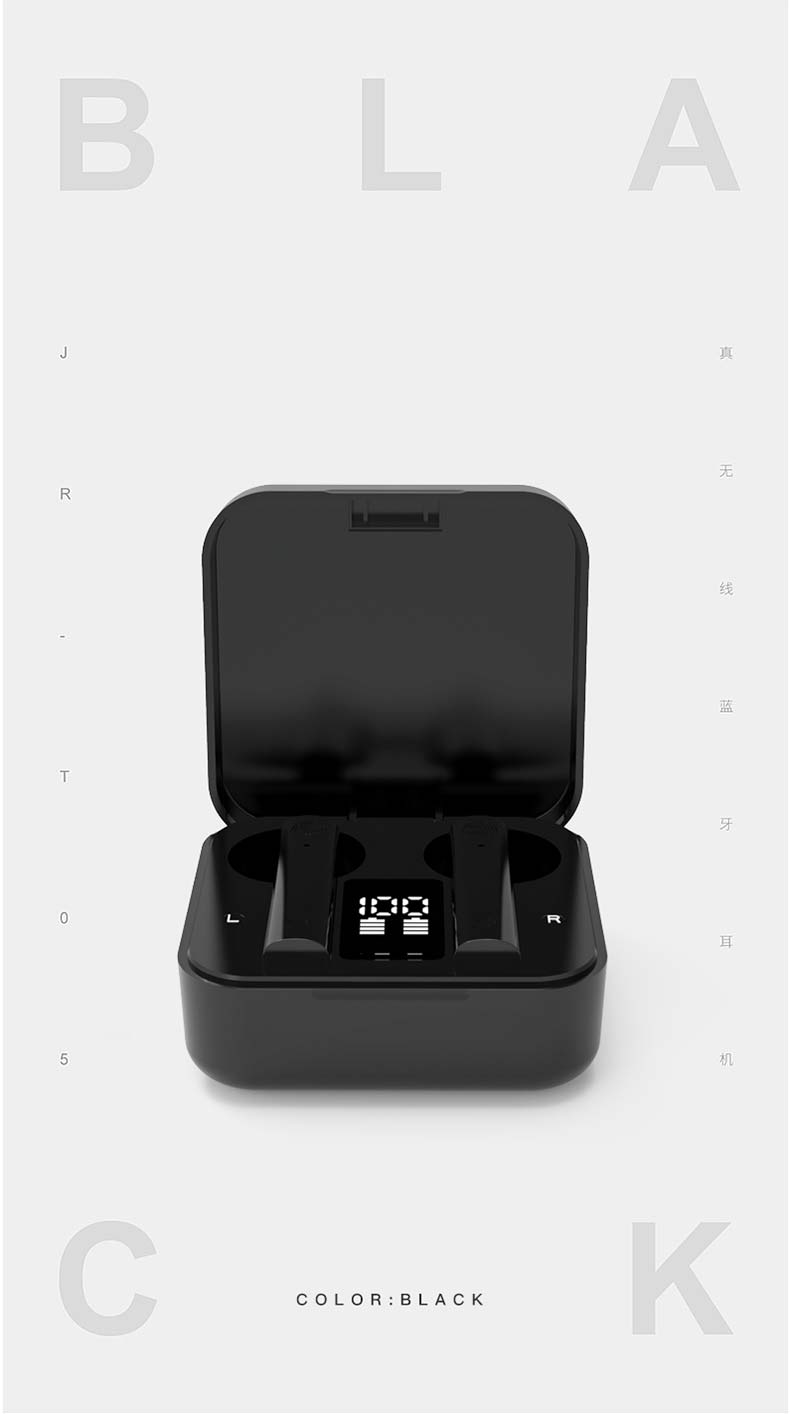 2020 New Arrival LED Wireless Headphones Bluetooth 5.0 Earphones Earbuds TWS Touch Control Sport Headset Noise Cancel for Xiaomi 11