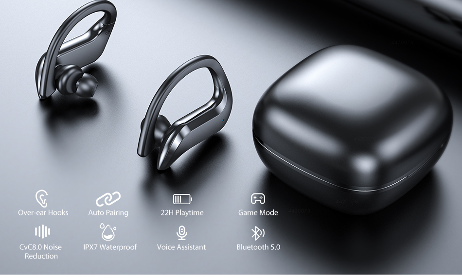 TWS Bluetooth 5.0 Earphones Wireless Bluetooth Headphone Noise Cancelling 9D HiFi Stereo Sport Headset Handsfree With Microphone 1
