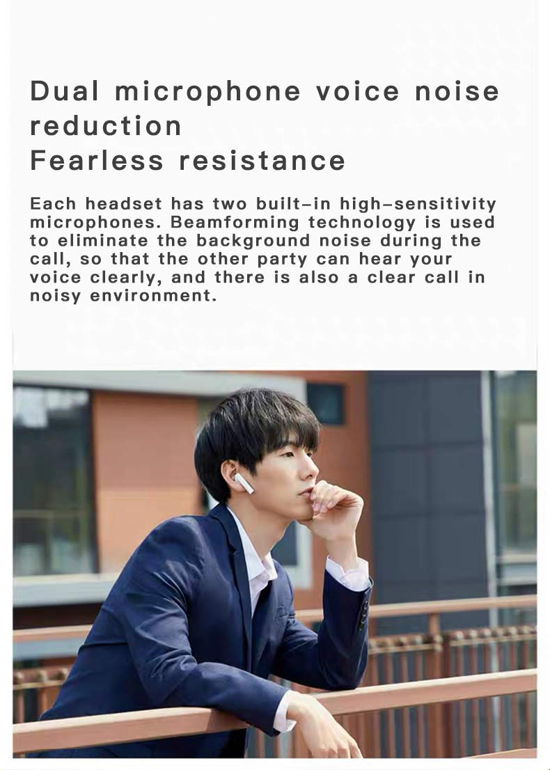 2020 New Arrival LED Wireless Headphones Bluetooth 5.0 Earphones Earbuds TWS Touch Control Sport Headset Noise Cancel for Xiaomi 4