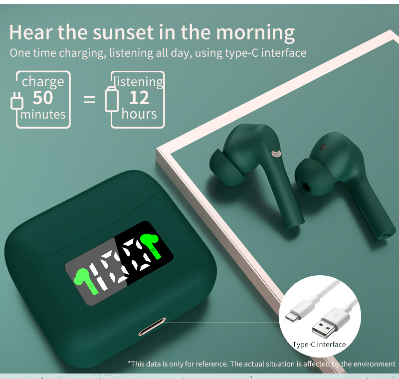 J5 Tws Headphone Touch Wireless Bluetooth 5.0 Earphone Earbuds Noise Cancelling Gaming Headset For iPhone Xiaomi All Smart Phone 7