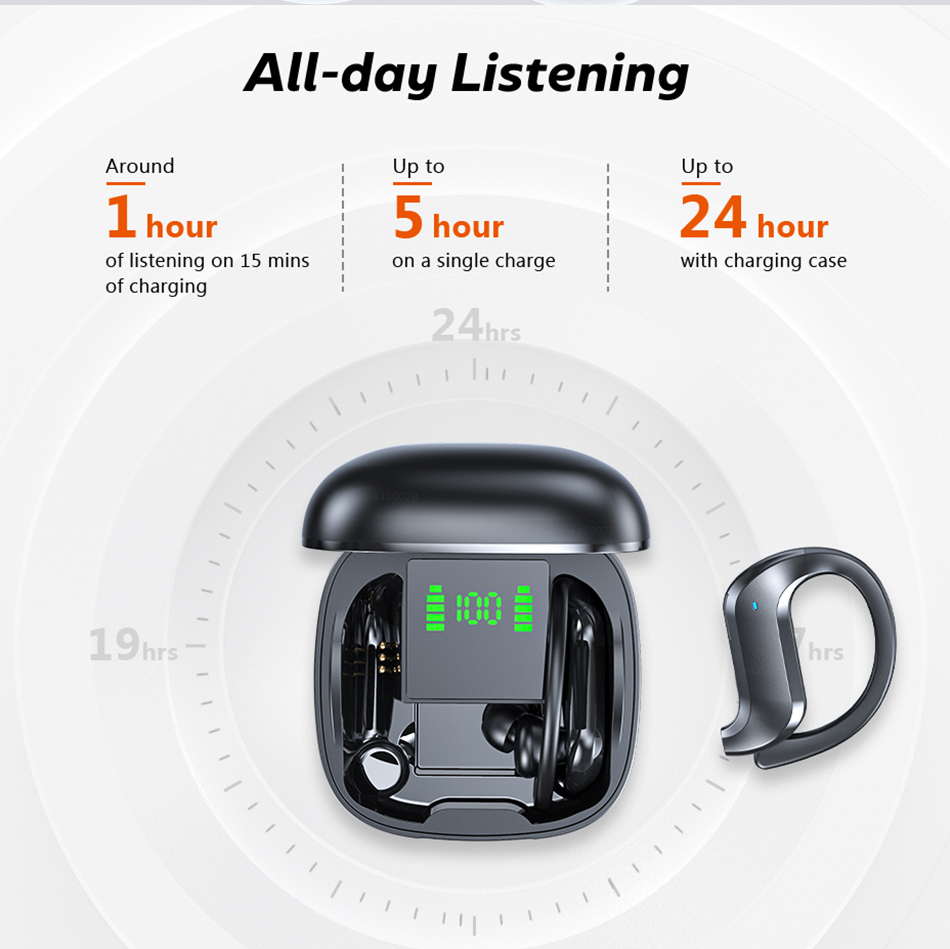 TWS Bluetooth 5.0 Earphones Wireless Bluetooth Headphone Noise Cancelling 9D HiFi Stereo Sport Headset Handsfree With Microphone 4