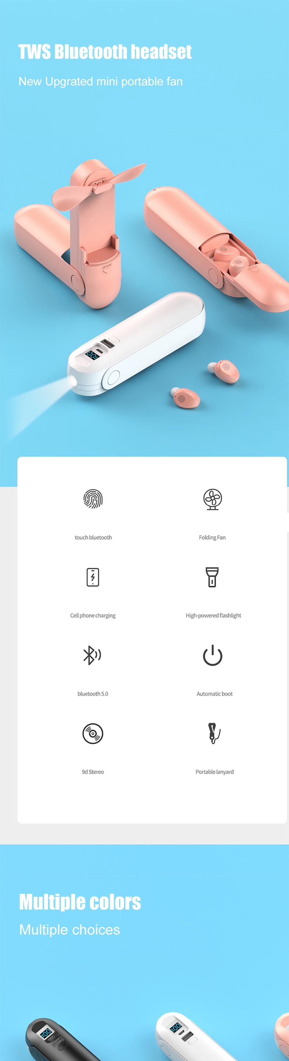 2020 New Arrival F7 Wireless Headphones TWS Sport Bluetooth 5.0 Earphones In-ear 9D Noise Reduction HiFi IPX5 Waterproof Headset 0