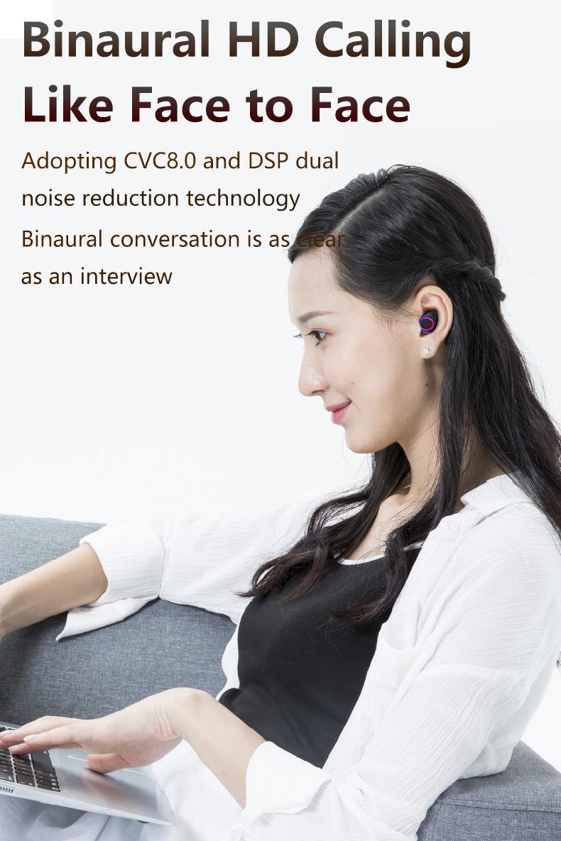 3500mAh Bluetooth Earphones Wireless Headphones Touch Control LED With Microphone Sport Waterproof Headsets Earbuds Earphone 6