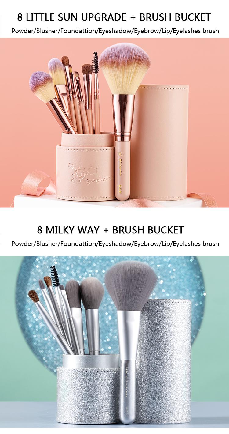 Makeup Brush Tool Set Cosmetic Powder Eye Shadow Foundation Blush Blending Beauty Make Up Brush with Makeup Brush Holders 3