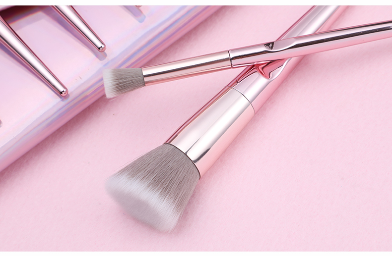 New 10Pcs Eye Makeup Brushes Set Eye Shadow Eyebrow Sculpting Power Brushes Facial Makeup Cosmetic Brush Tools 4