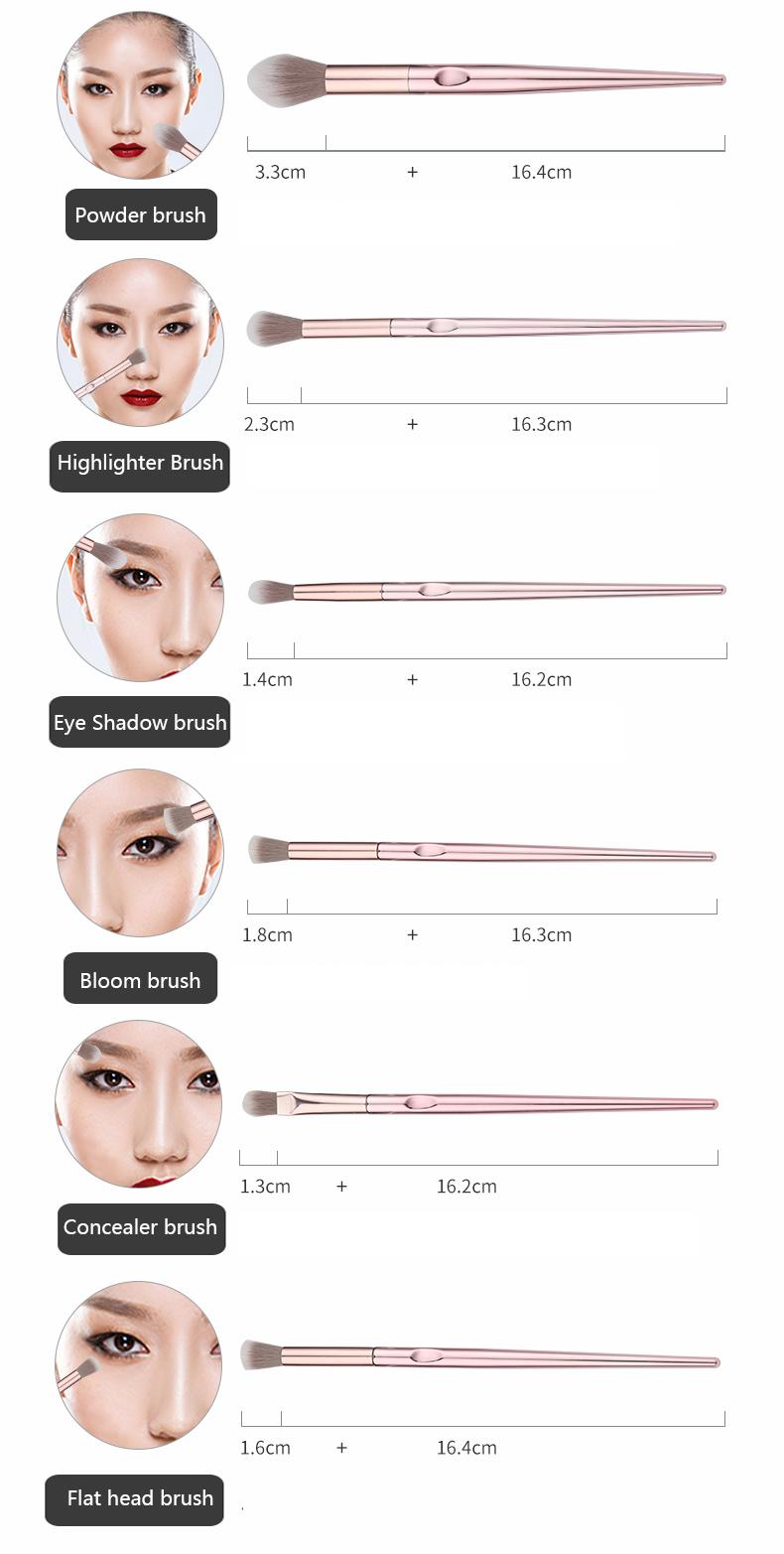 New 10Pcs Eye Makeup Brushes Set Eye Shadow Eyebrow Sculpting Power Brushes Facial Makeup Cosmetic Brush Tools 1