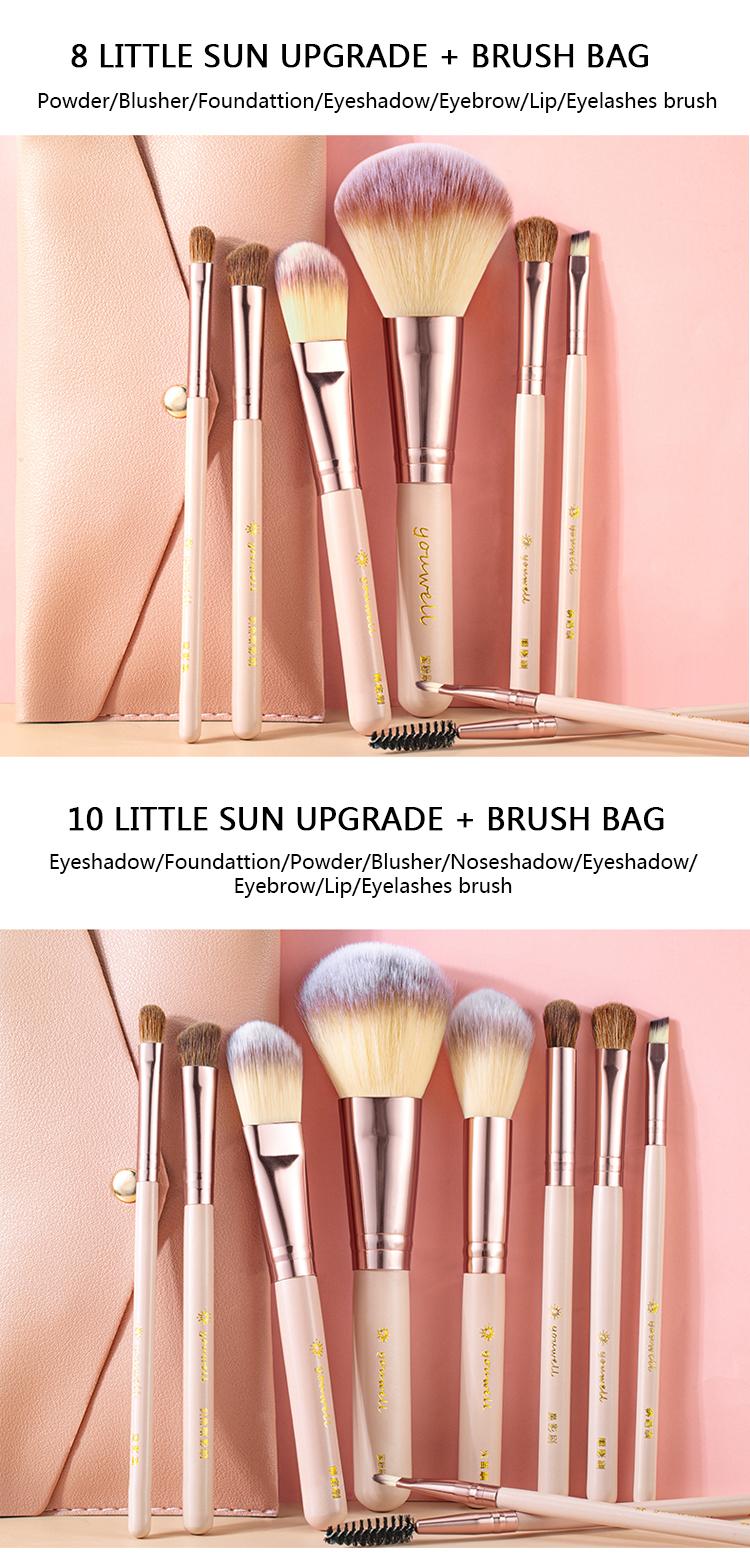 Makeup Brush Tool Set Cosmetic Powder Eye Shadow Foundation Blush Blending Beauty Make Up Brush with Makeup Brush Holders 4