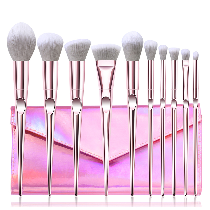 New 10Pcs Eye Makeup Brushes Set Eye Shadow Eyebrow Sculpting Power Brushes Facial Makeup Cosmetic Brush Tools 6