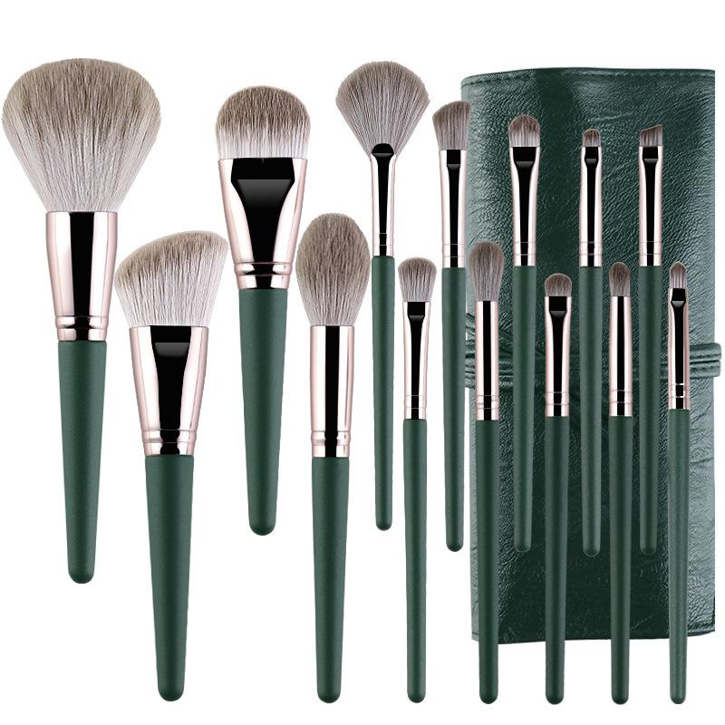 14Pcs Makeup Brushes Set Cosmetic Foundation Powder Blush Eye Shadow Lip Blend Wooden Make Up Brush Tool Kit Maquiagem 7
