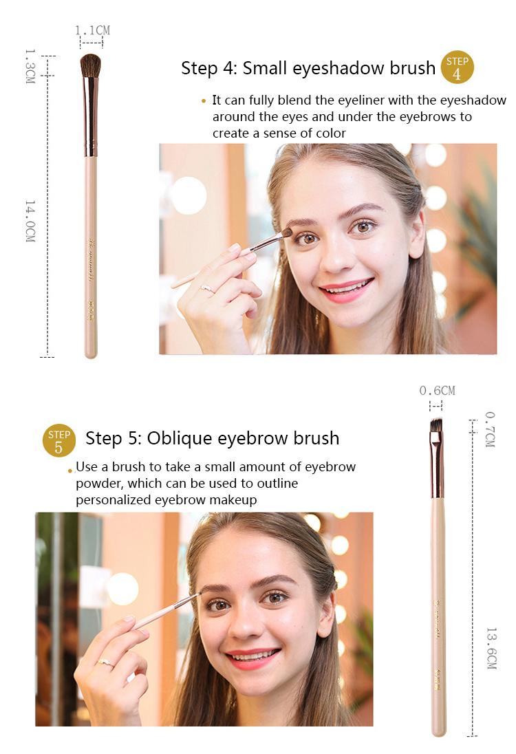 Makeup Brush Tool Set Cosmetic Powder Eye Shadow Foundation Blush Blending Beauty Make Up Brush with Makeup Brush Holders 8
