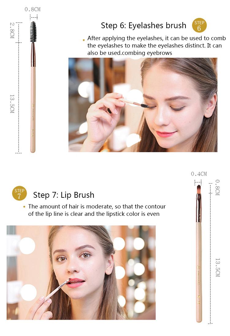 Makeup Brush Tool Set Cosmetic Powder Eye Shadow Foundation Blush Blending Beauty Make Up Brush with Makeup Brush Holders 9