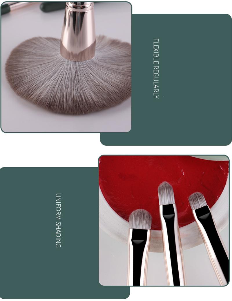14Pcs Makeup Brushes Set Cosmetic Foundation Powder Blush Eye Shadow Lip Blend Wooden Make Up Brush Tool Kit Maquiagem 3
