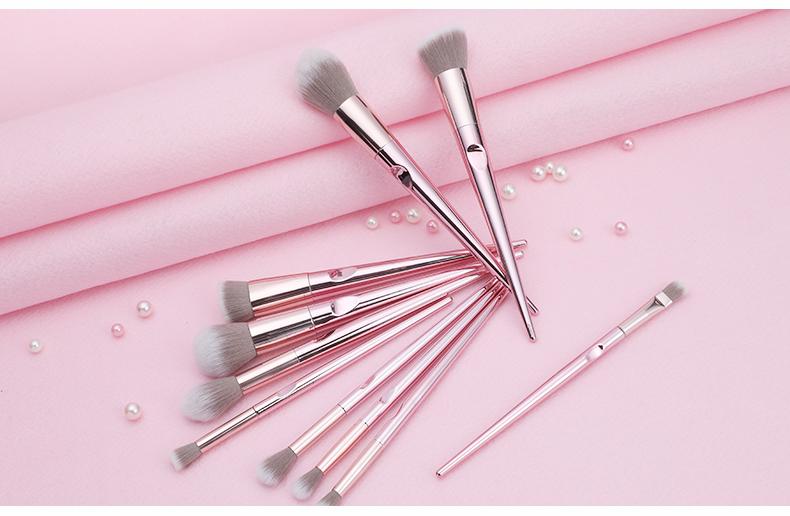 New 10Pcs Eye Makeup Brushes Set Eye Shadow Eyebrow Sculpting Power Brushes Facial Makeup Cosmetic Brush Tools 3