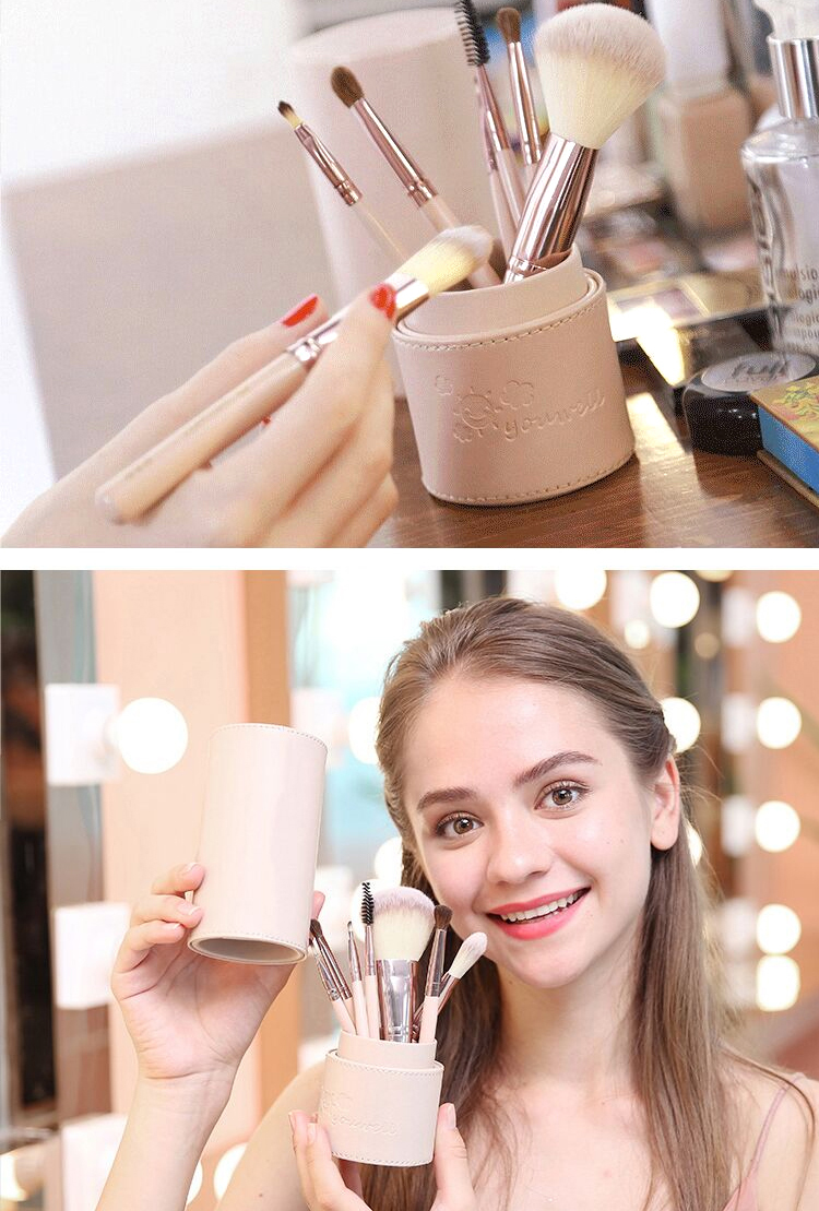 Makeup Brush Tool Set Cosmetic Powder Eye Shadow Foundation Blush Blending Beauty Make Up Brush with Makeup Brush Holders 5