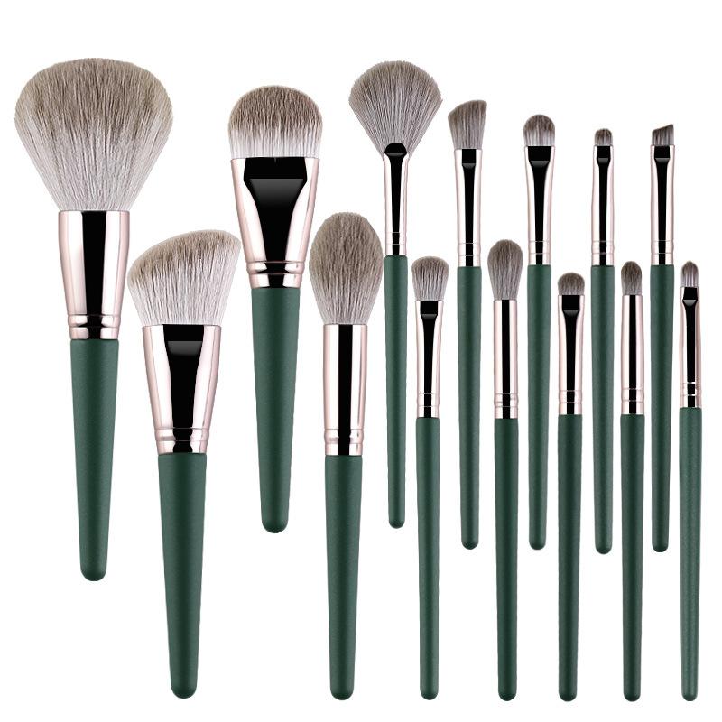 14Pcs Makeup Brushes Set Cosmetic Foundation Powder Blush Eye Shadow Lip Blend Wooden Make Up Brush Tool Kit Maquiagem 6