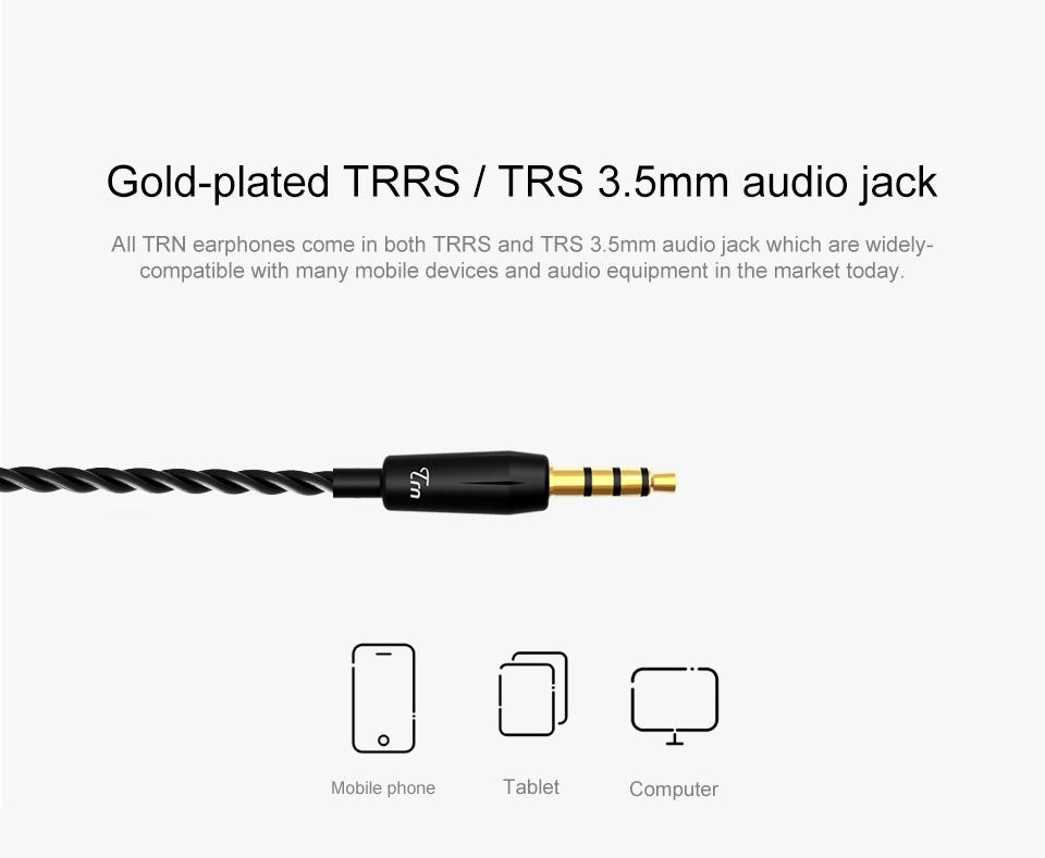 TRN V30 2BA+1DD Hybrid Earphone DJ IEM Monito Sport Earphone 3 Drive Earplug Headset 2Pin Detachable Trn HIFI Earphone 15