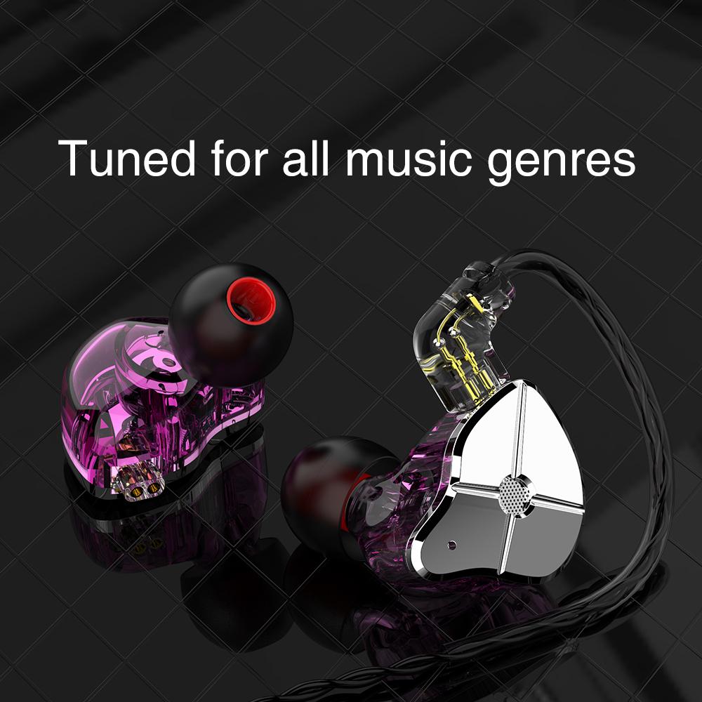 TRN ST1 1DD 1BA Hybrid In Ear Earphone HIFI DJ Monitor Running Sport Earphone Earplug Headset With QDC Cable TRN V90 BA5 5