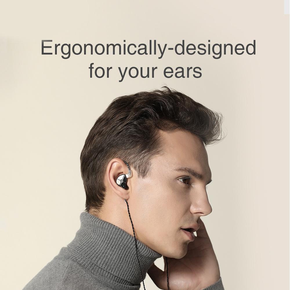 TRN ST1 1DD 1BA Hybrid In Ear Earphone HIFI DJ Monitor Running Sport Earphone Earplug Headset With QDC Cable TRN V90 BA5 1