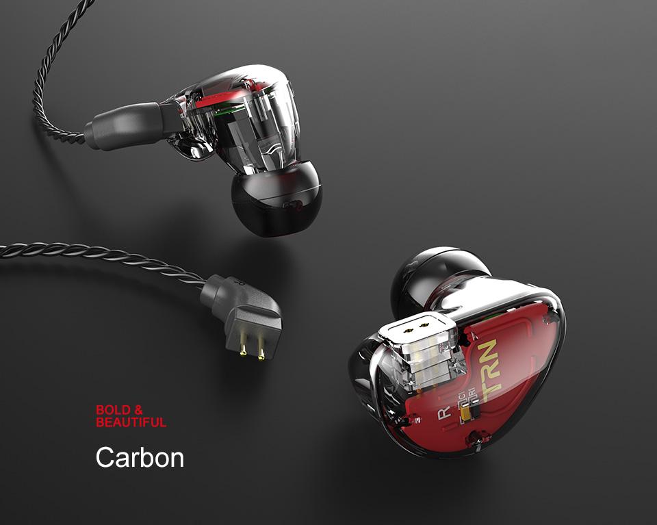 TRN V30 2BA+1DD Hybrid Earphone DJ IEM Monito Sport Earphone 3 Drive Earplug Headset 2Pin Detachable Trn HIFI Earphone 12