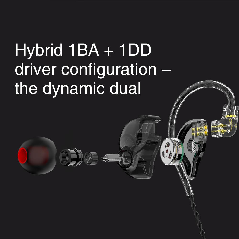 TRN ST1 1DD 1BA Hybrid In Ear Earphone HIFI DJ Monitor Running Sport Earphone Earplug Headset With QDC Cable TRN V90 BA5 6