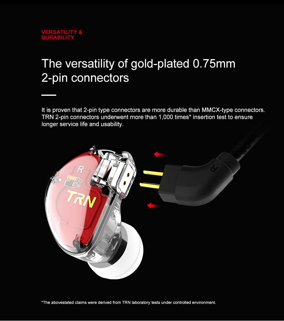 TRN V30 2BA+1DD Hybrid Earphone DJ IEM Monito Sport Earphone 3 Drive Earplug Headset 2Pin Detachable Trn HIFI Earphone 7