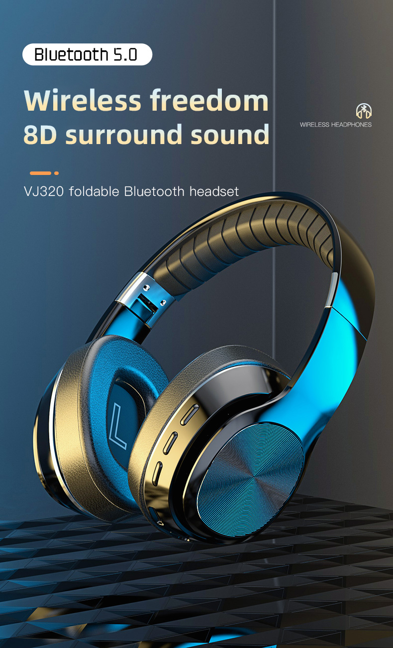 HiFi Wireless Headphones Bluetooth Foldable Headset Support TF Card/FM Radio/Bluetooth AUX Stereo Headset With Mic Deep Bass 0