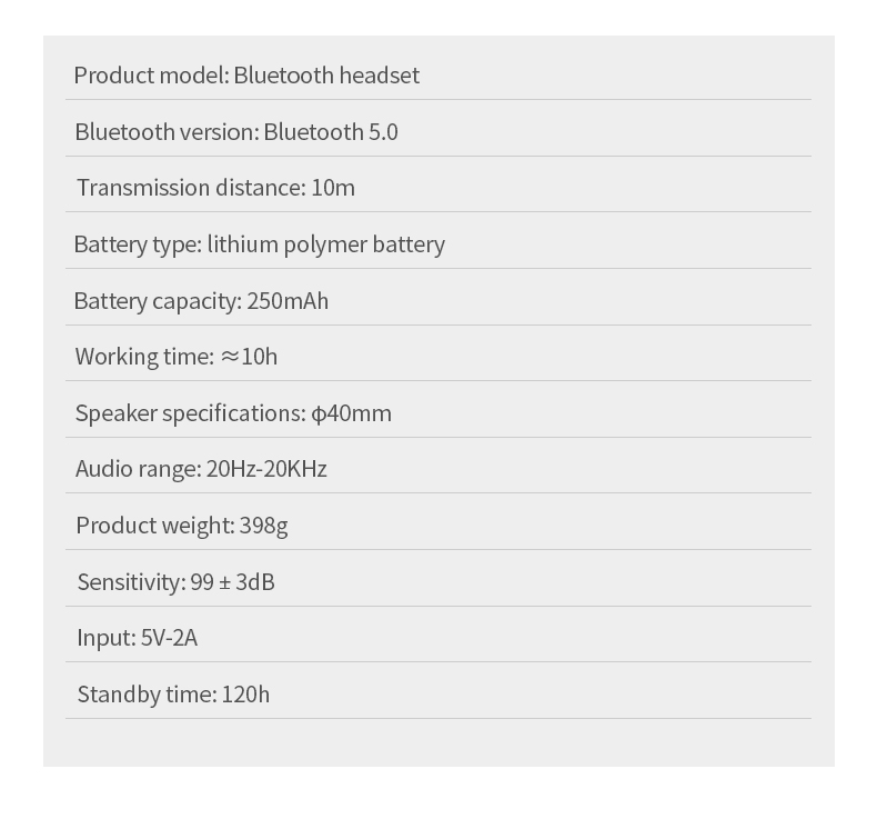Bluetooth 5.0 Wireless Headphone Foldable Stereo High Quality Sound Bluetooth Sport Headset Support TF Card FM Radio AUX Mode 7