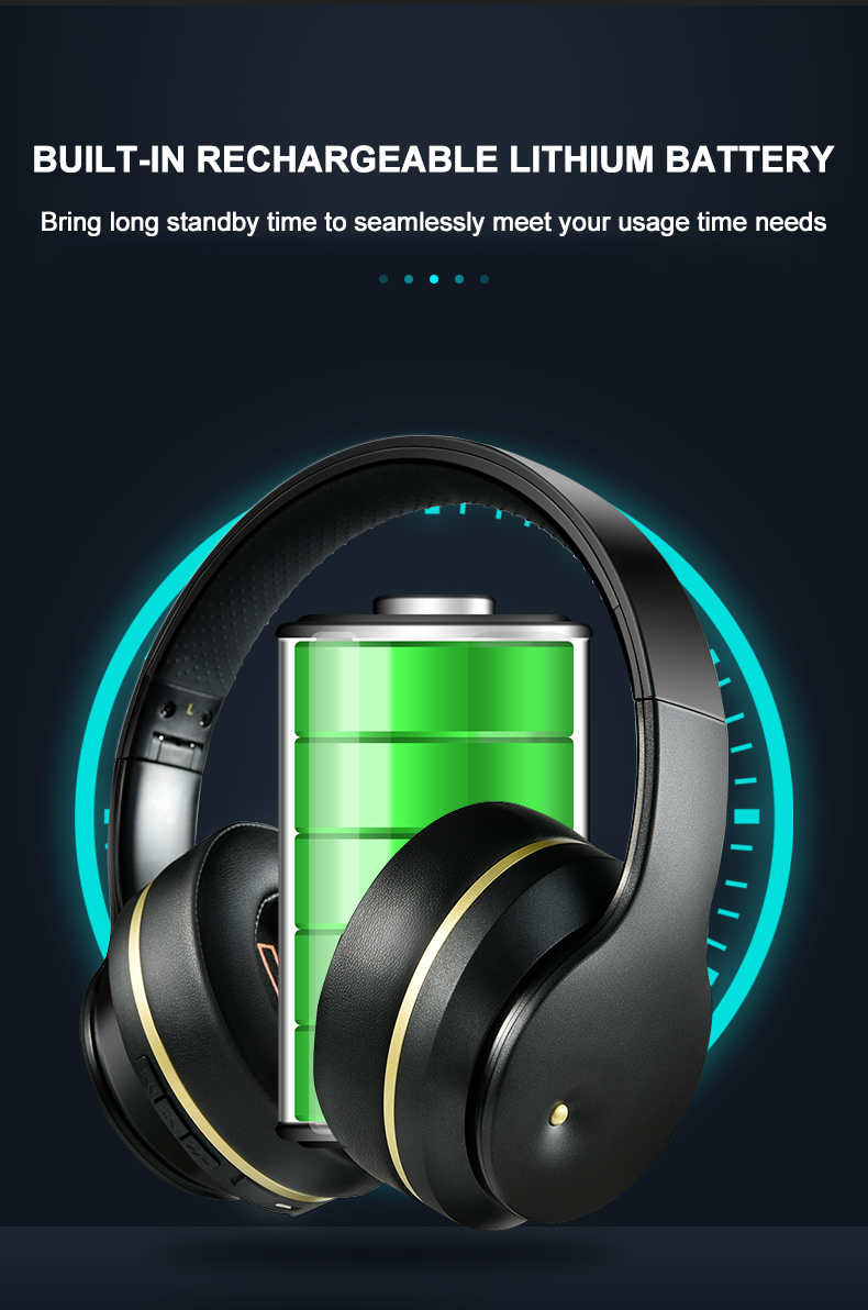 Newest ANC Bluetooth Headset Active Noise Cancelling Bluetooth Headphones Over Ear Stereo Bass Foldable Headphones With Mic 5