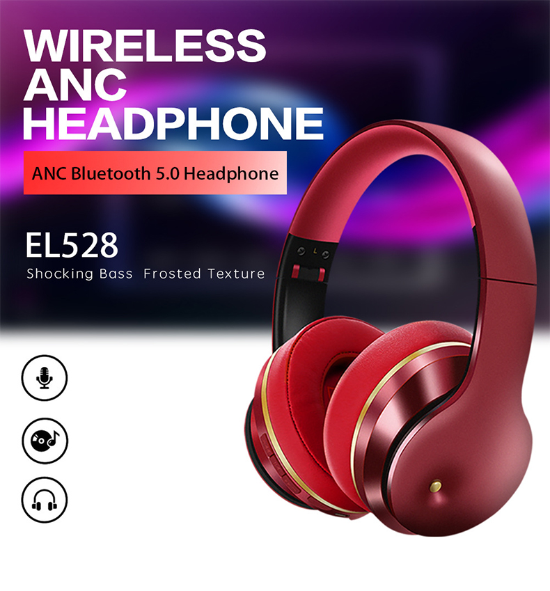 Newest ANC Bluetooth Headset Active Noise Cancelling Bluetooth Headphones Over Ear Stereo Bass Foldable Headphones With Mic 1