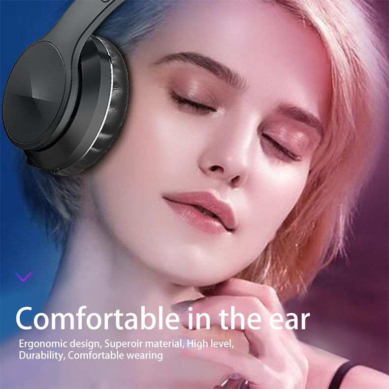 Bluetooth 5.0 Wireless Headphone Foldable Stereo High Quality Sound Bluetooth Sport Headset Support TF Card FM Radio AUX Mode 3
