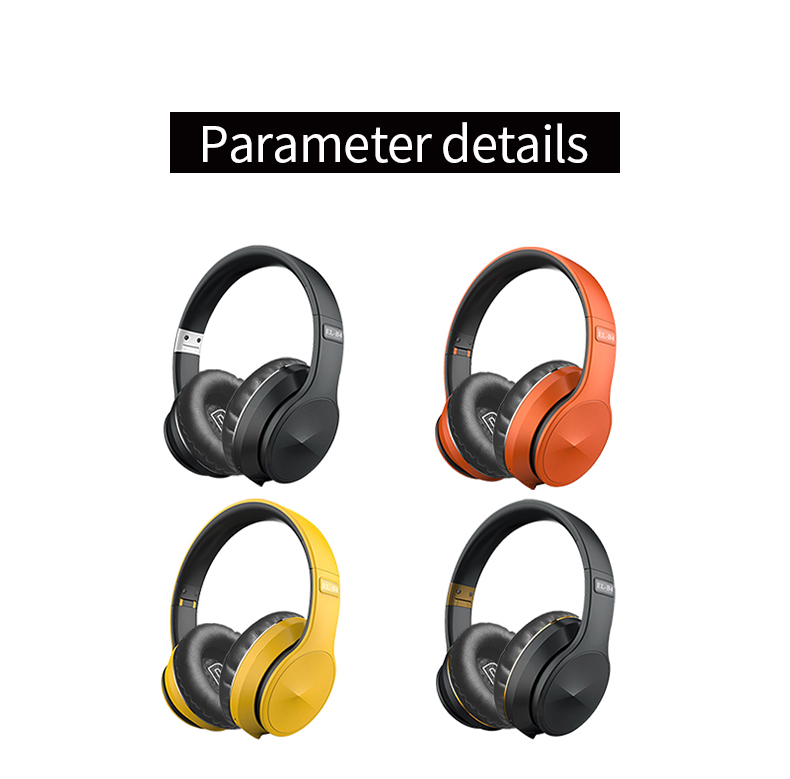 Bluetooth 5.0 Wireless Headphone Foldable Stereo High Quality Sound Bluetooth Sport Headset Support TF Card FM Radio AUX Mode 8