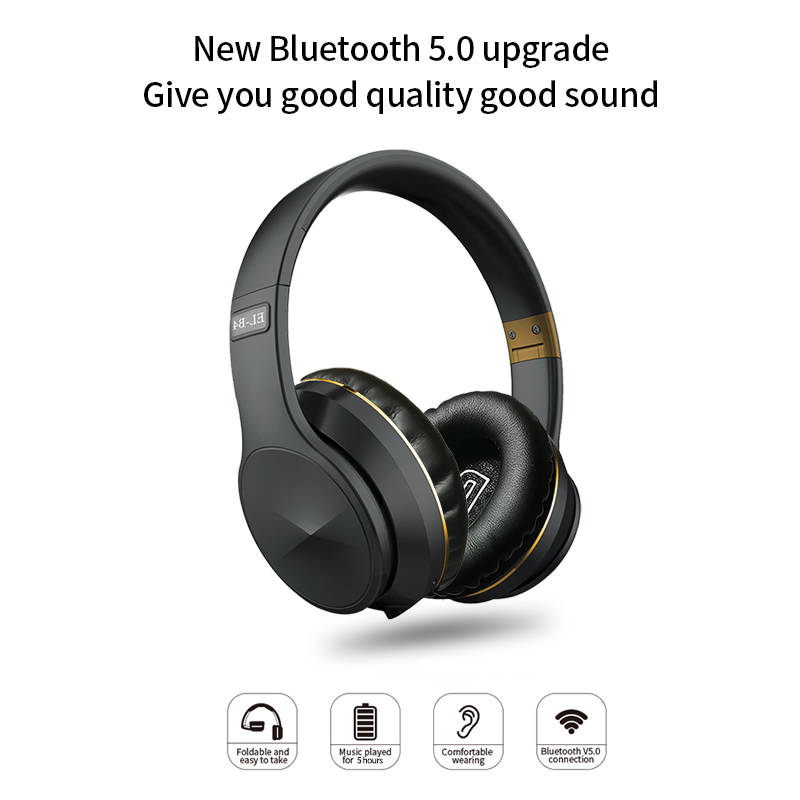 Bluetooth 5.0 Wireless Headphone Foldable Stereo High Quality Sound Bluetooth Sport Headset Support TF Card FM Radio AUX Mode 0