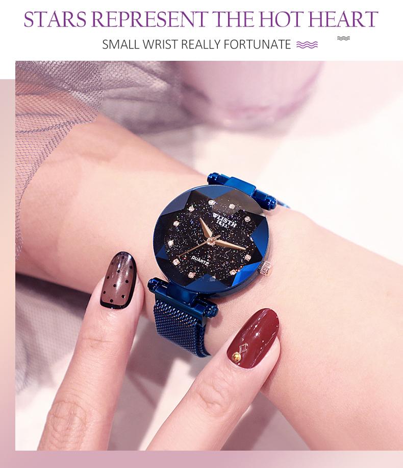 Sparkling Luxury Women Watches Ladies Magnetic Band Clock Fashion Diamond Gypsophila Female Quartz Wristwatch Relogio Feminino 3