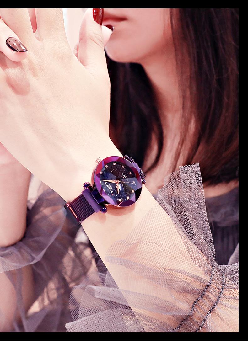 Sparkling Luxury Women Watches Ladies Magnetic Band Clock Fashion Diamond Gypsophila Female Quartz Wristwatch Relogio Feminino 2
