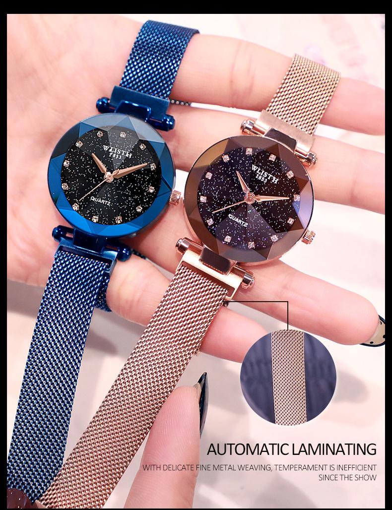 Sparkling Luxury Women Watches Ladies Magnetic Band Clock Fashion Diamond Gypsophila Female Quartz Wristwatch Relogio Feminino 5