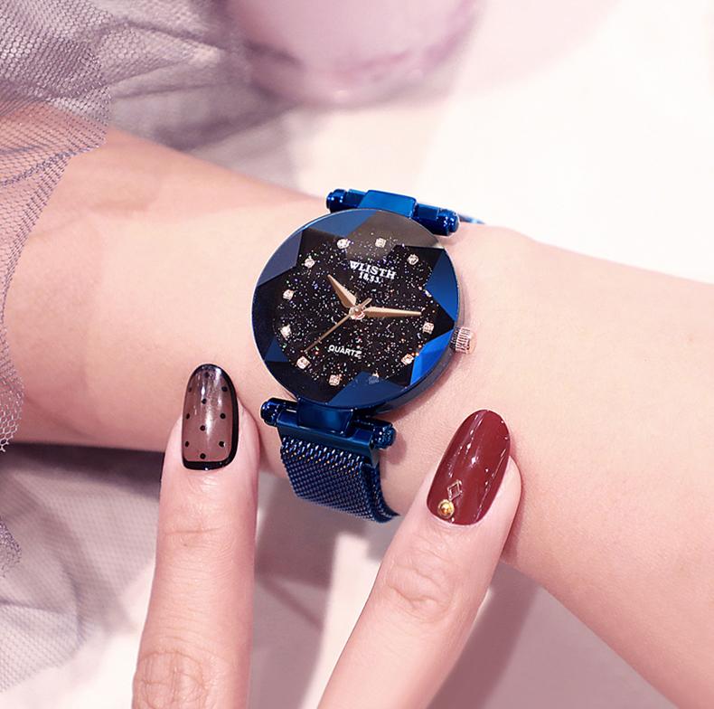 Sparkling Luxury Women Watches Ladies Magnetic Band Clock Fashion Diamond Gypsophila Female Quartz Wristwatch Relogio Feminino 10