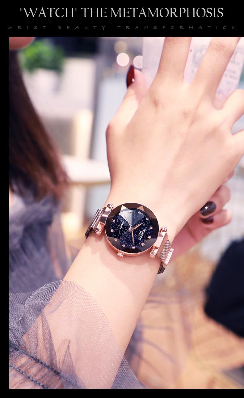 Sparkling Luxury Women Watches Ladies Magnetic Band Clock Fashion Diamond Gypsophila Female Quartz Wristwatch Relogio Feminino 9