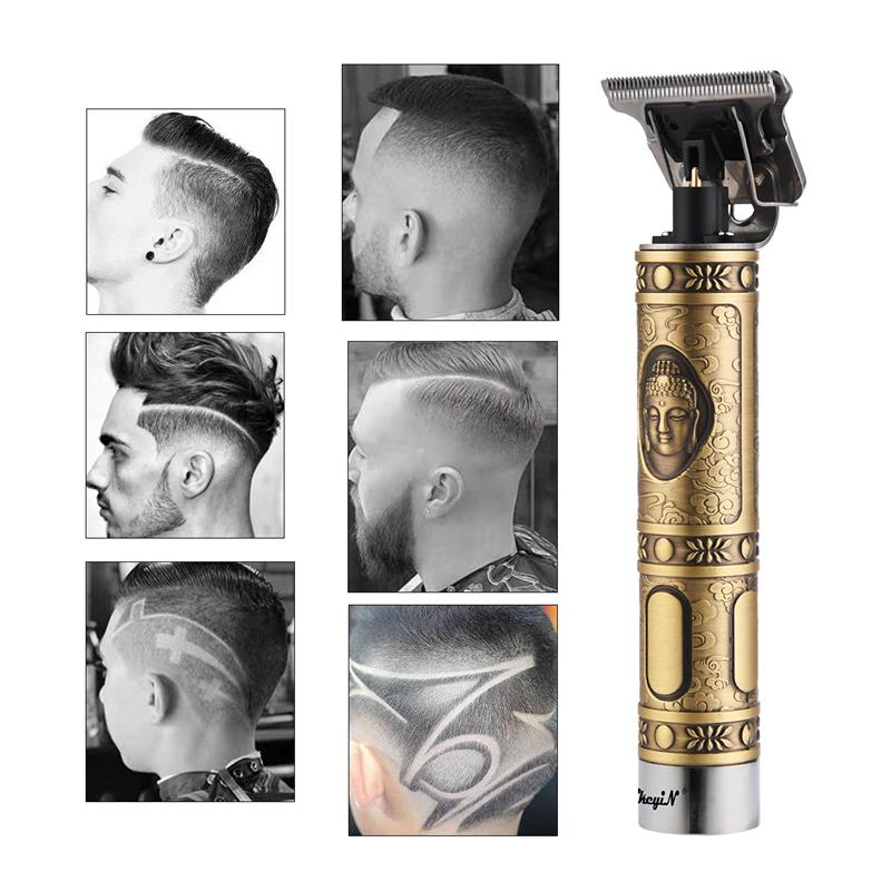 Professional Men's Hair Trimmer Clipper 0mm Baldheaded Cutter Beard Shaving Precision Finishing Hair Cutting Machine Adult Kid 1