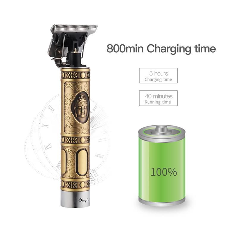 Professional Men's Hair Trimmer Clipper 0mm Baldheaded Cutter Beard Shaving Precision Finishing Hair Cutting Machine Adult Kid 2
