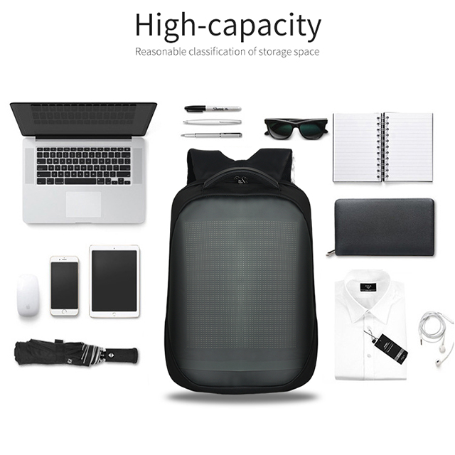 LED Display Screen Backpack for Men Women Smart Laptop Backpacks Waterproof Bag Outdoor Walking Advertising Billboard Wifi Bags 6