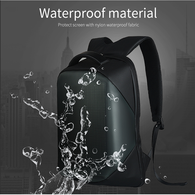 LED Display Screen Backpack for Men Women Smart Laptop Backpacks Waterproof Bag Outdoor Walking Advertising Billboard Wifi Bags 7