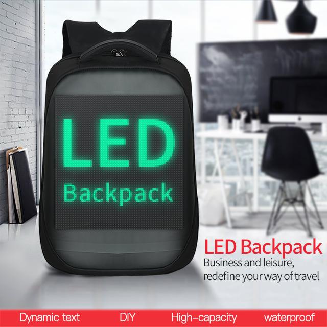 LED Display Screen Backpack for Men Women Smart Laptop Backpacks Waterproof Bag Outdoor Walking Advertising Billboard Wifi Bags 0
