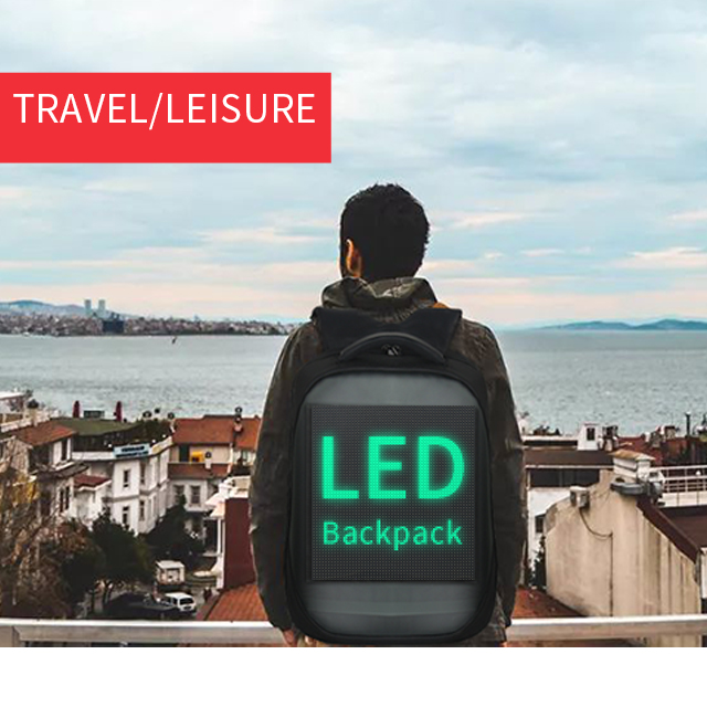 LED Display Screen Backpack for Men Women Smart Laptop Backpacks Waterproof Bag Outdoor Walking Advertising Billboard Wifi Bags 5