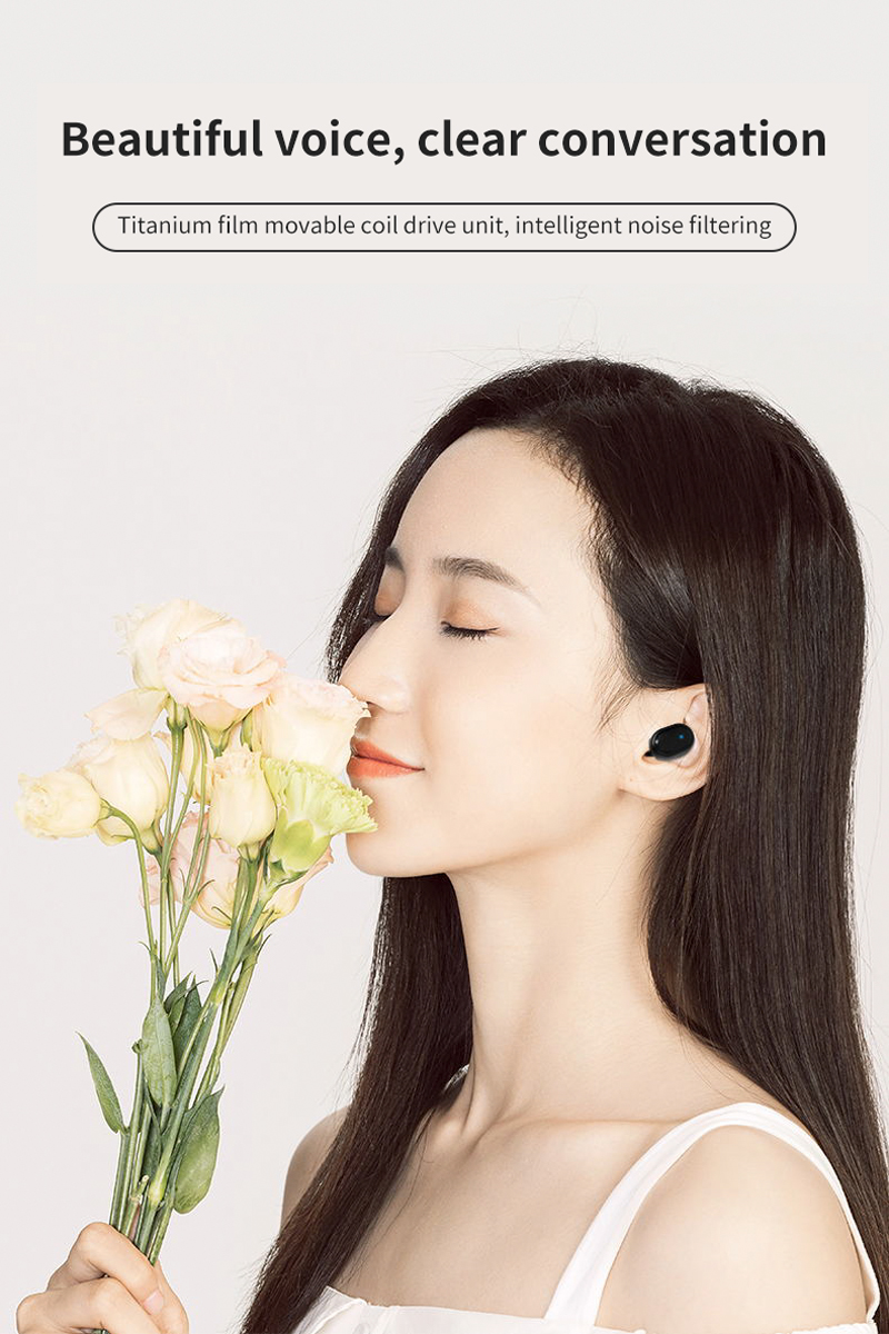 TWS M1 Wireless Bluetooth Headsets VS Redmi Airdots Earbuds Wireless Earphones with Mic Earbuds for iPhone Xiaomi Huawei Samsun 1