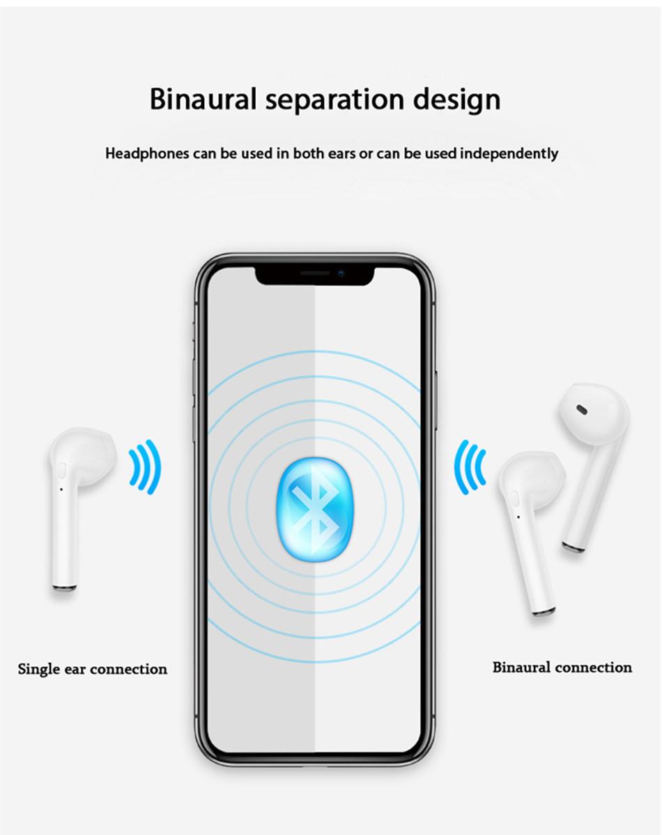 i7s TWS Wireless Earpiece Bluetooth 5.0 Earphones sport Earbuds Headset With Mic For smart Phone Xiaomi Samsung Huawei LG 3