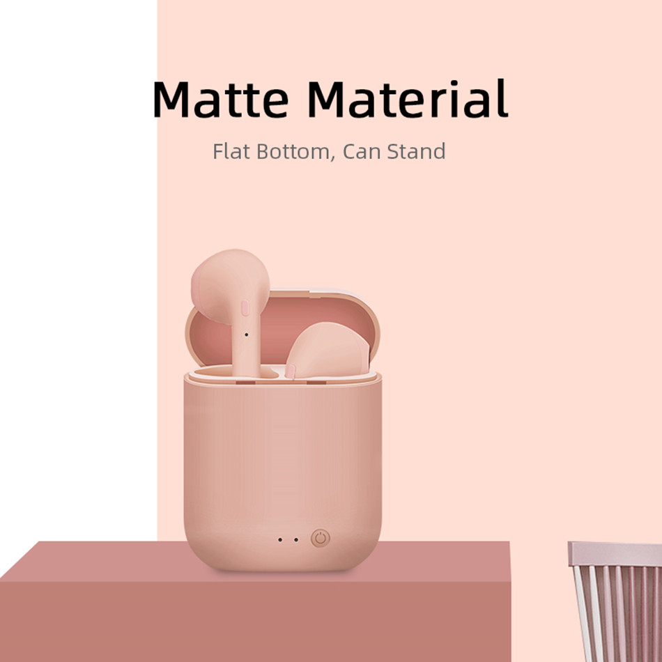Mini-2 TWS Wireless Earphones Bluetooth 5.0 Earphone TWS Matte Macaron Earbuds With Mic Charging Box Headset Wireless Headphones 1