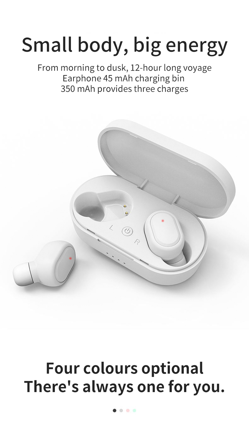 TWS M1 Wireless Bluetooth Headsets VS Redmi Airdots Earbuds Wireless Earphones with Mic Earbuds for iPhone Xiaomi Huawei Samsun 2