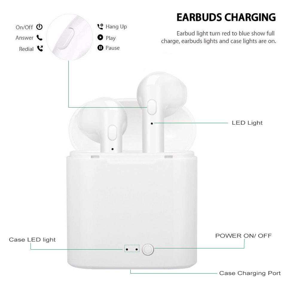 i7s TWS Wireless Earpiece Bluetooth 5.0 Earphones sport Earbuds Headset With Mic For smart Phone Xiaomi Samsung Huawei LG 8