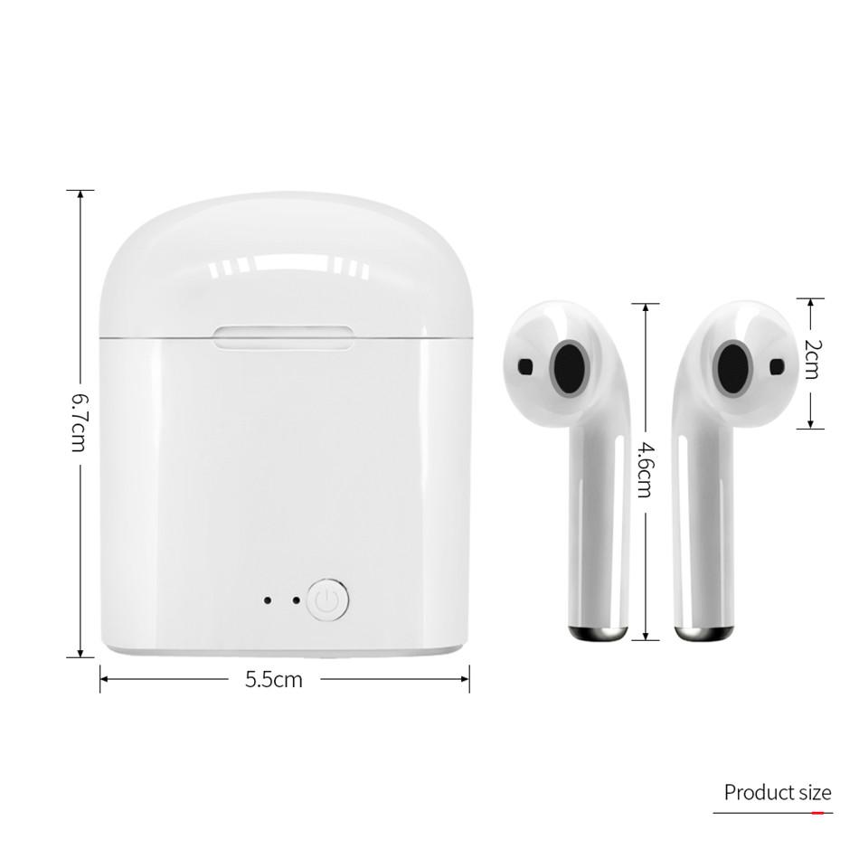 i7s TWS Wireless Earpiece Bluetooth 5.0 Earphones sport Earbuds Headset With Mic For smart Phone Xiaomi Samsung Huawei LG 4